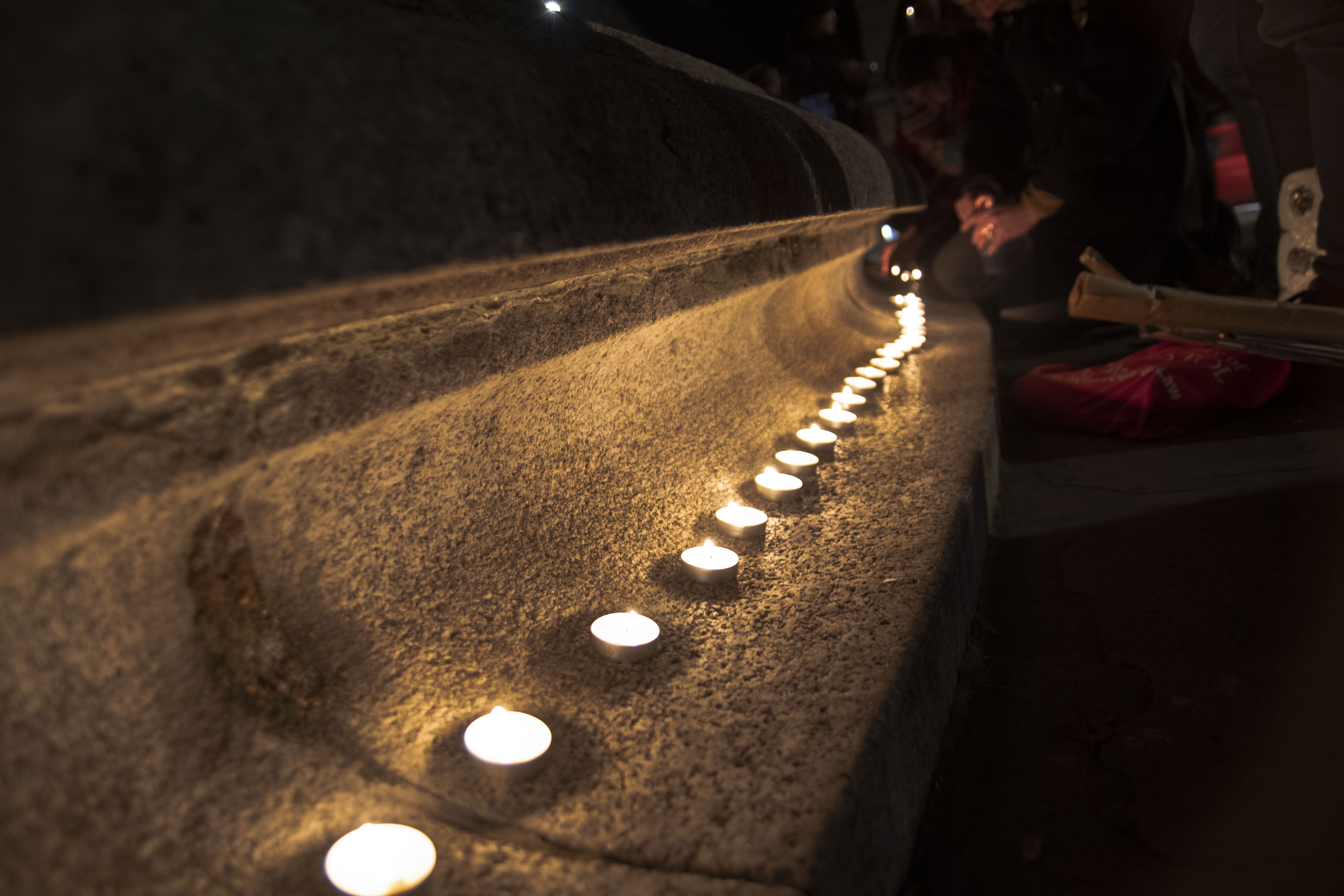 A photo of the vigil