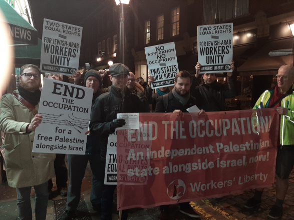 Two States demo in solidarity with the Palestinians