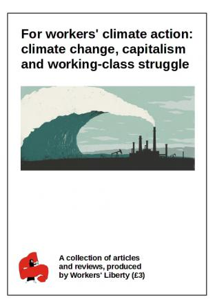 Pamphlet cover for workers' climate action