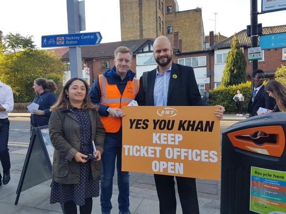 campaigners at Hackney Downs station
