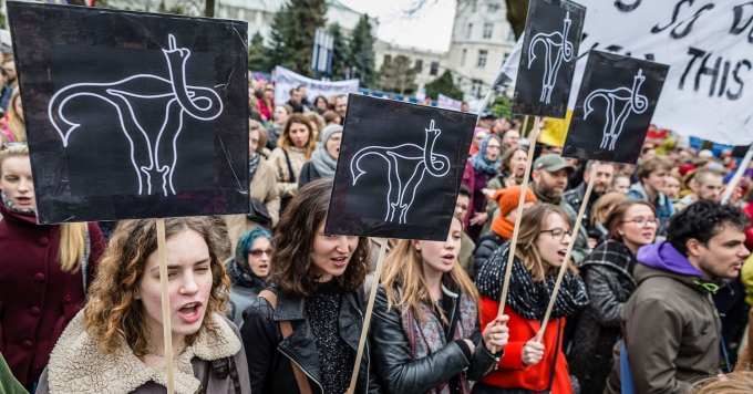 Polish abortion protest