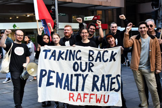 Taking back our penalty rates RAFFWU
