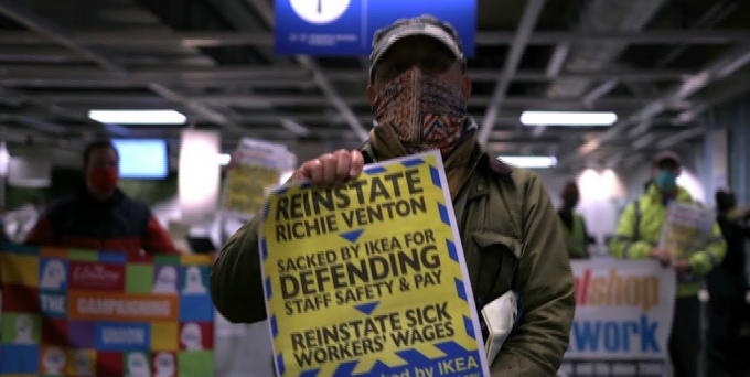 Reinstate Richie Venton protest