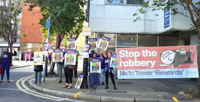 Tower Hamlets council picket