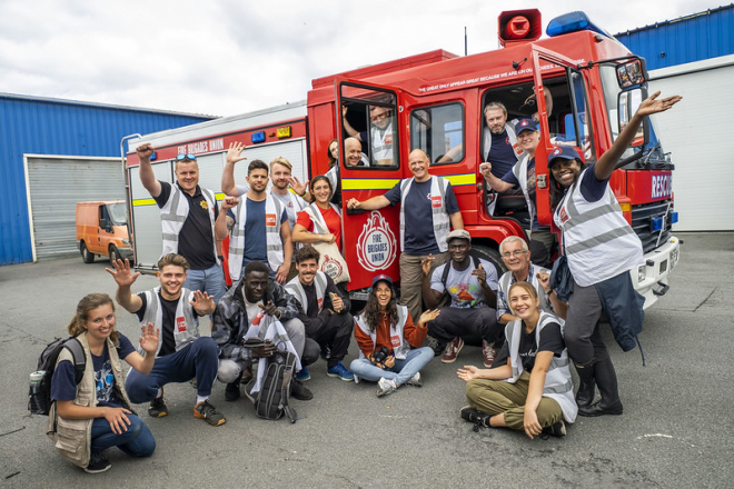 FBU delegation in Calais