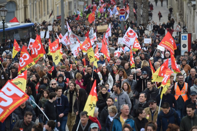 French pensions strike