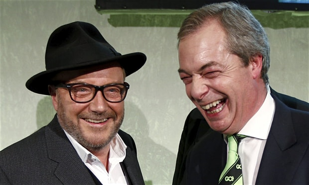 United in anti-AWLism: George Galloway and Nigel Farage. Now joined by The Daily Express and Ashok Kumar