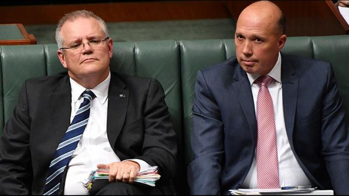 Morrison, left, and Dutton, right