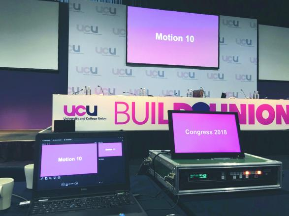 Motion 10 at UCU conference