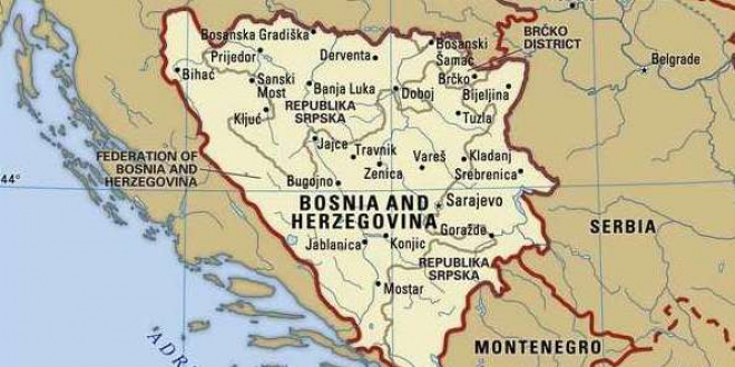 Bosnia on map