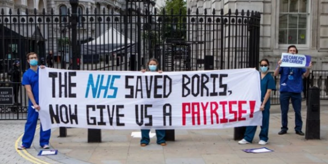 NHS workers protest