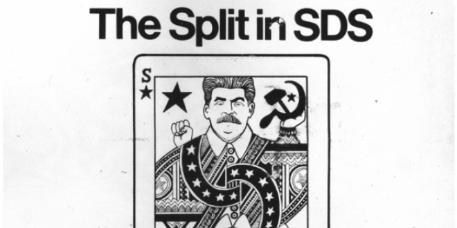 The split in SDS with a Stalin Graphic below it