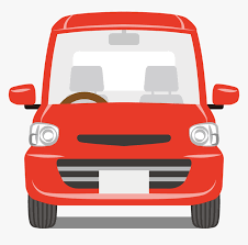 Cartoon image of a small red car