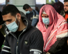Palestinians in masks