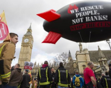 'We rescue people, not banks' - FBU slogan adopted from Spanish firefighters
