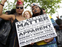 Black Lives Matter placard