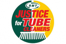 RMT Justice for Tube Cleaners campaign logo