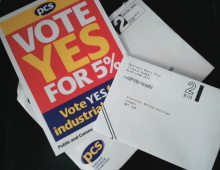 PCS pay ballot
