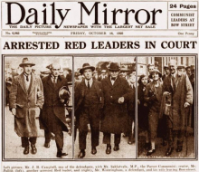 October 1925 Mirror front page
