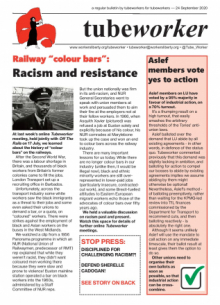 Tubeworker — 24/09/2020: Racism and Resistance