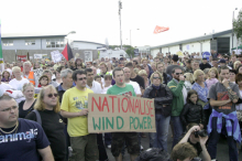 Protest in support of Vestas occupation