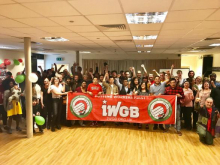 Delegates at the IWGB AGM