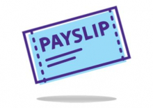 A cartoon image of a payslip
