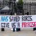 NHS workers' protest, Downing Street