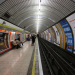 A photograph of a Tube platform and tunnel at Baker Street station