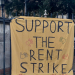 Bristol rent strike banner